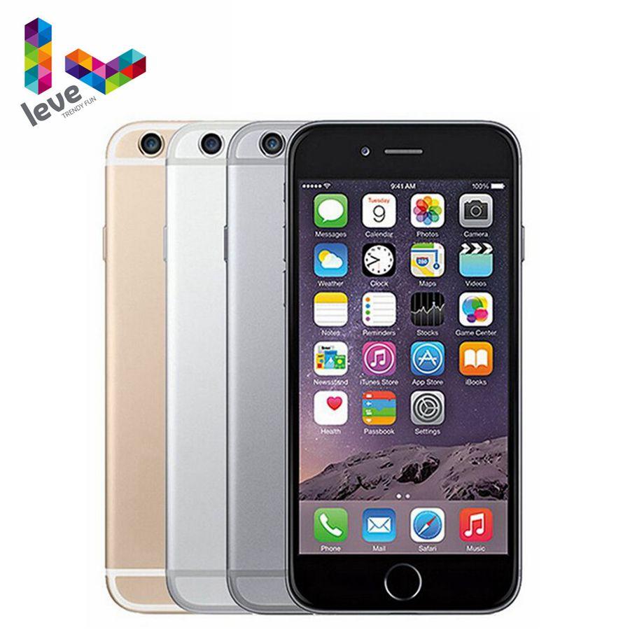 "Original Apple iPhone 6 Mobile Phone 4G LTE 4.7""1GB RAM 16/64/128GB ROM 8.0MP Dual Core iOS Fingerprint Unlocked Smartphone"