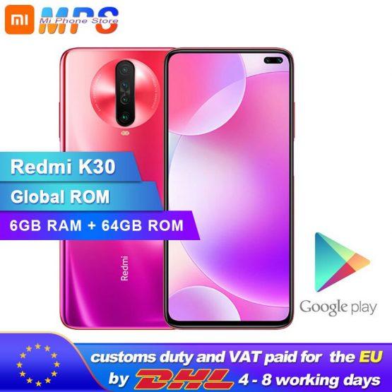 Global ROM Xiaomi Redmi K30 6GB 64GB 4G Smartphone Snapdragon 730G Octa Core 64MP Camera 120HZ Fluid Display 4500mAh