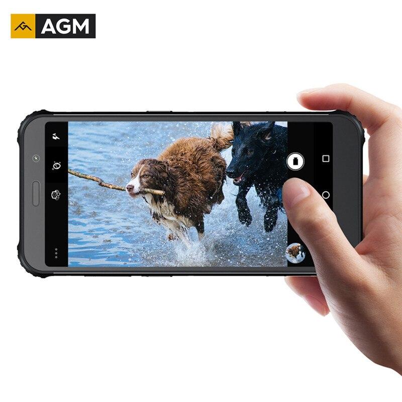 "Original AGM A9 4G+32G Android 8.1 Octa Core Rugged 5.99"" FHD+ Smartphone 5400mAh IP68 Waterproof Phone Quad-Box Speakers NFC"