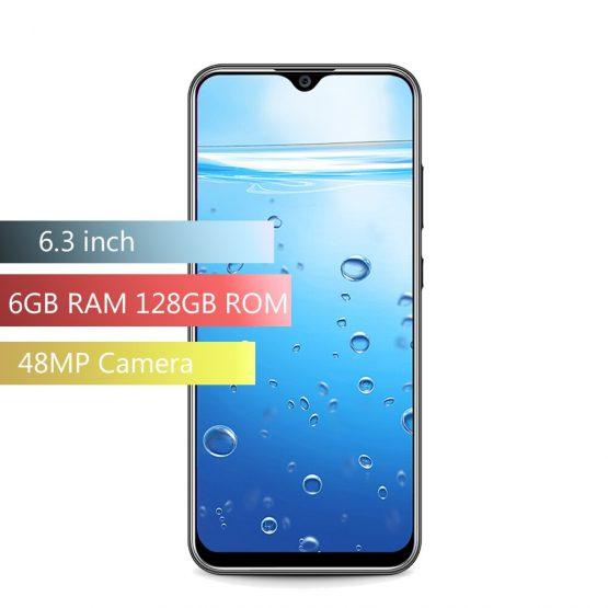 OUKITEL Y4800 4G Smartphone 6.3 inch F Octa Core 6GB RAM 128GB ROM 2340 x 1080 Dual Rear Cameras 4000mAh Mobile Phone