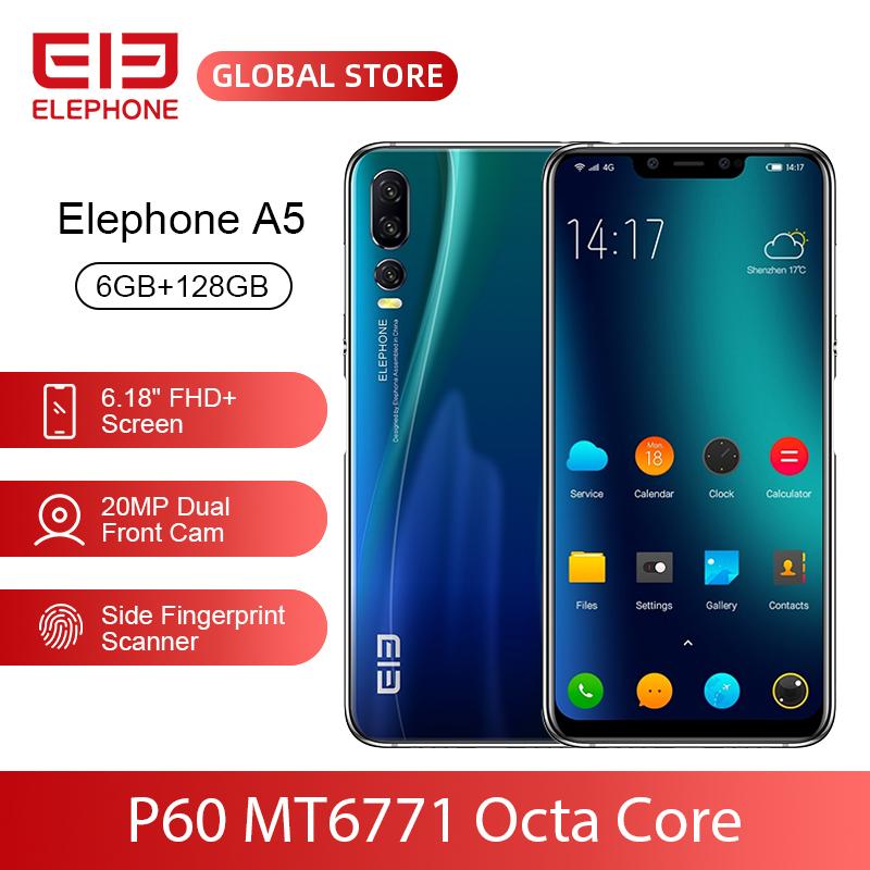 ELEPHONE A5 P60 MT6771 Octa Core Smartphone 6GB 128GB 6.18 Inch FHD+ U-Notch Screen 20MP Front Cam 4000mAh 4G Android 8.1 Mobile