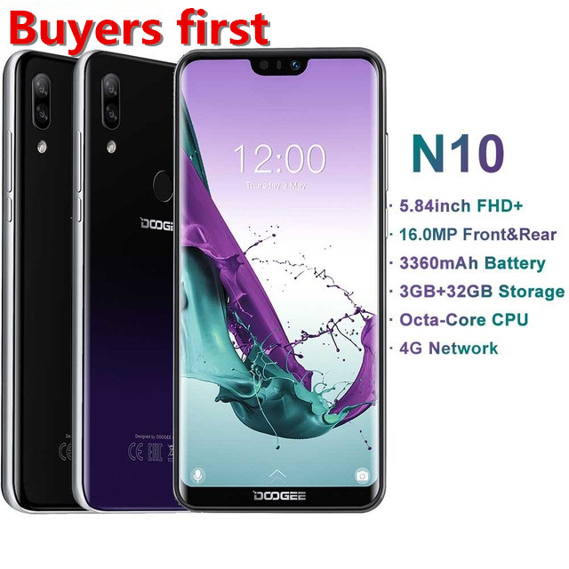 "2019 original DOOGEE mobile Phone SC9863A Octa-Core 3GB RAM 32GB ROM 5.84""FHD+ 19:9 16.0MP 3360mAh Android 8.1 4G smartphone"