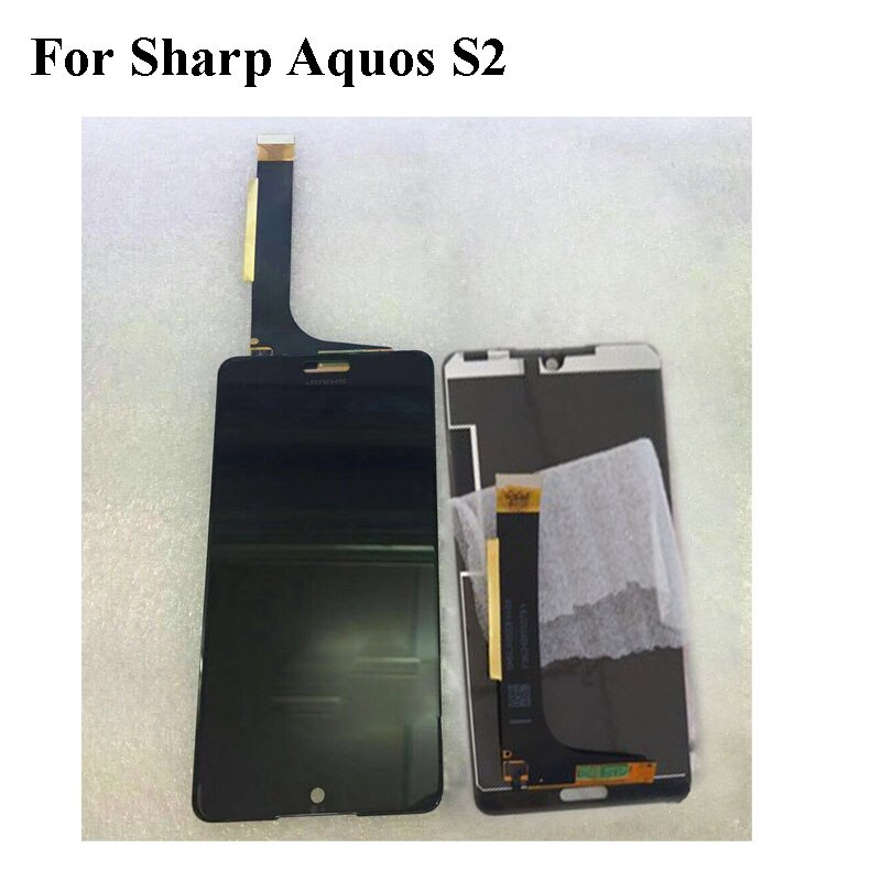 Black LCD+TP For Sharp Aquos S2 LCD Display with Touch Screen Digitizer Smartphone Replacement For Sharp Aquos S2 S 2 2040x1080