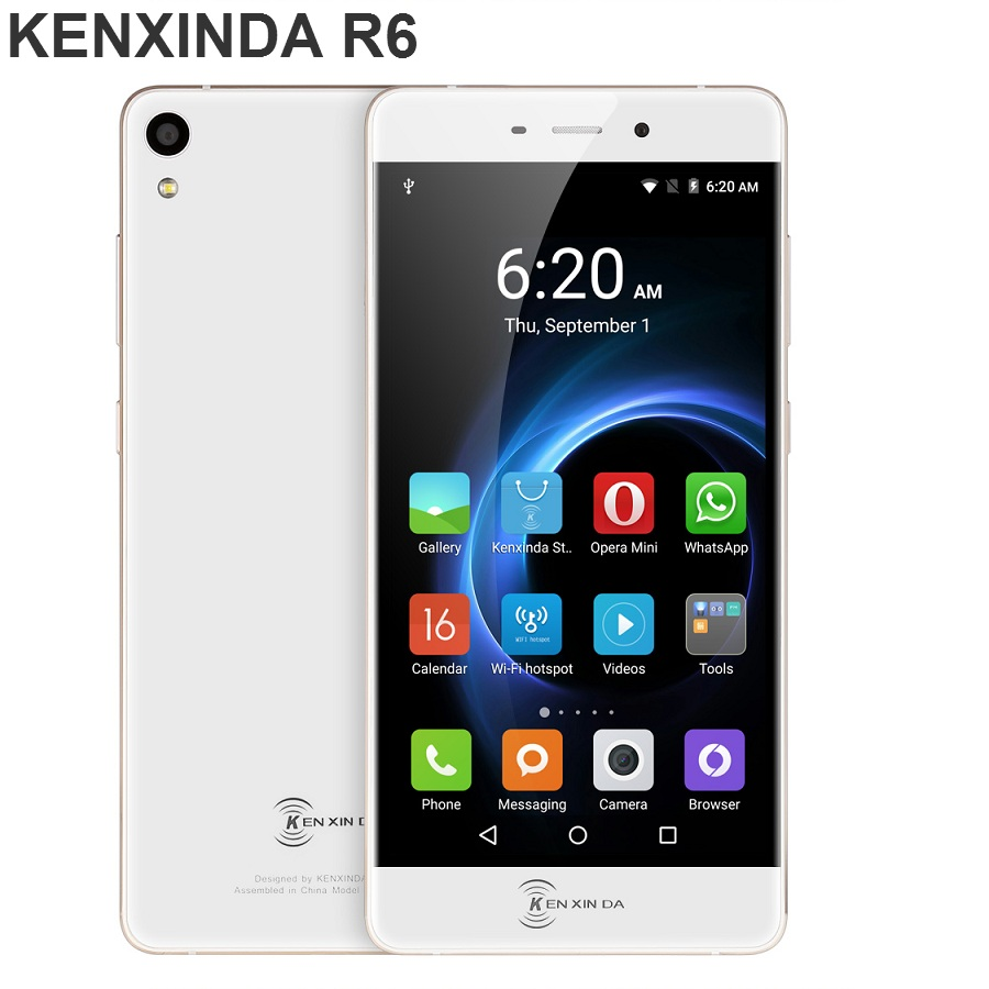 Origianl Kenxinda R6 5.2 inch Android 5.1 4G Smartphone MTK6753 Octa Core 1.3GHz 2GB RAM 16GB ROM GPS Navigation Mobile Phone