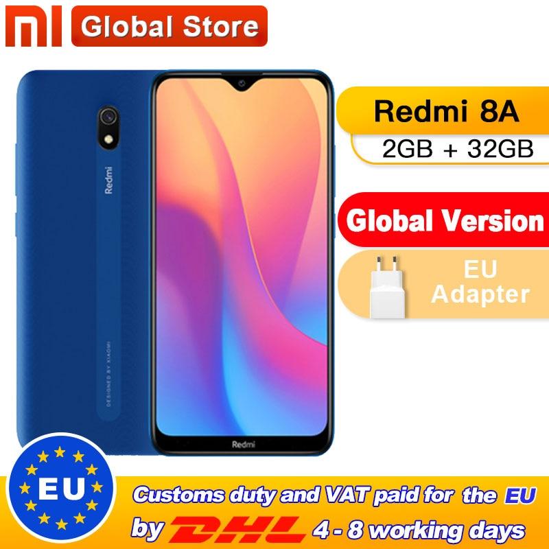 "Global Version Xiaomi Redmi 8A 2GB 32GB Mobile Phone Snapdragon 439 Octa Core 6.22"" 5000mAh 12MP Camera Smartphone"