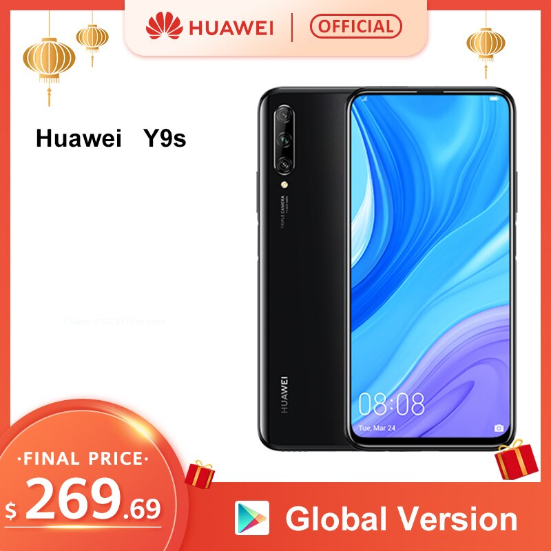 """World Premiere Global Version Huawei Y9s 6GB 128GB 48MP Smartphone Triple AI Cameras Auto-Pop Up Front Camera 6.59"""" cellphone"""