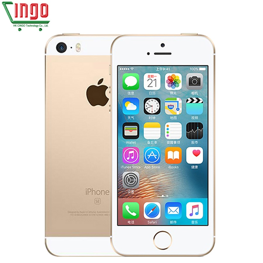 """Original Unlocked Apple iPhone SE 4G LTE Mobile Phone 4.0"""" 2G RAM 16/64GB ROM iOS Touch ID Chip A9 Dual Core 12.0MP Smartphone"""