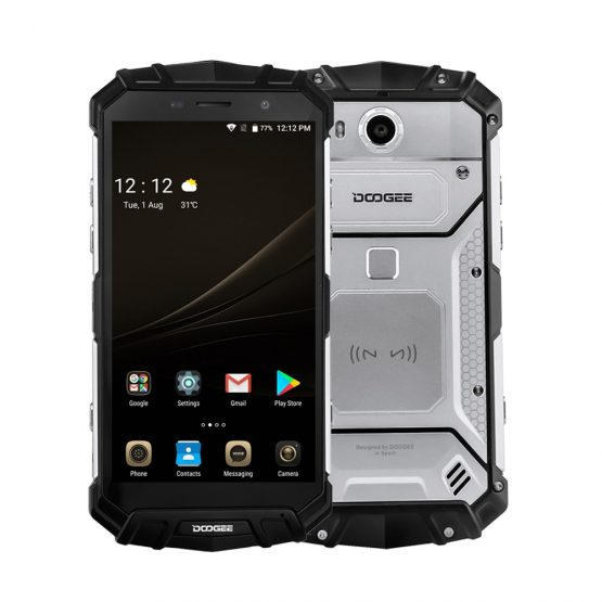 """DOOGEE S60 Lite IP68 Waterpoof Mobile Phone 5.2"""" 4GB 32GB Android 7.0 Fingerprint 16.0MP 4G LTE Face 5580mAh Smartphone"""