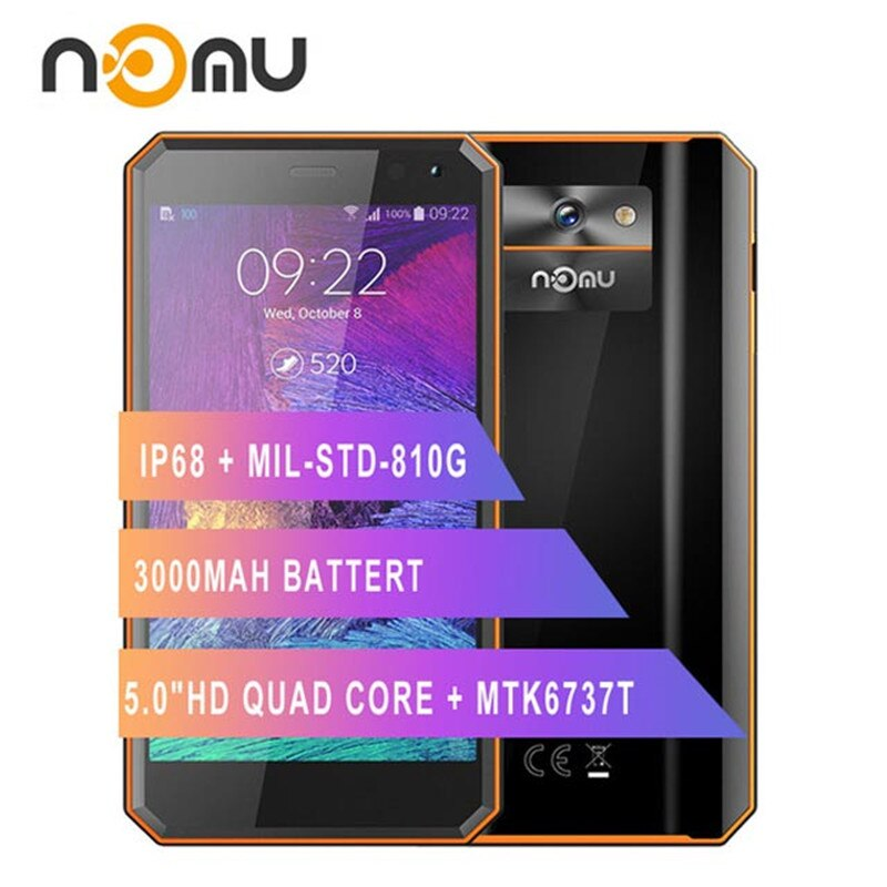 4G LTE Rugged Smartphone 2GB RAM 16GB ROM 5.0 inch Android 7.0 MTK6737VWT Quad Core 1.5GHz 8.0MP 3000mAh Waterproof Mobile Phone