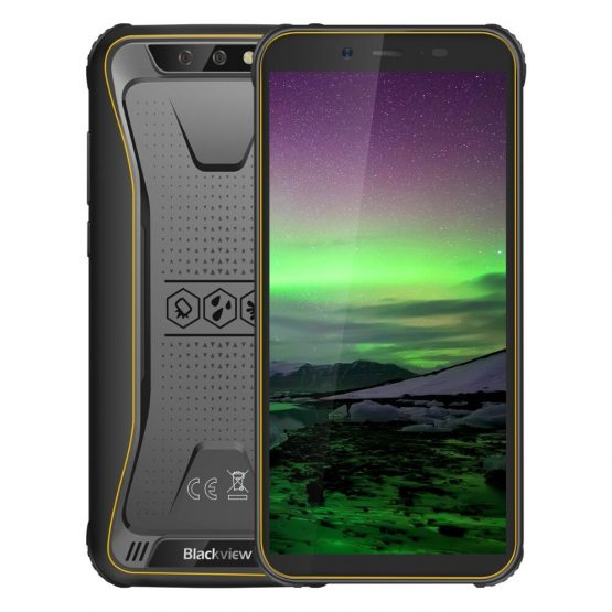 "Blackview BV5500 IP68 Waterproof Mobile Phone Dual SIM Rugged Smartphone MTK6580P 2GB+16GB 5.5"" 18:9 Screen 4400mAh Android 8.1"