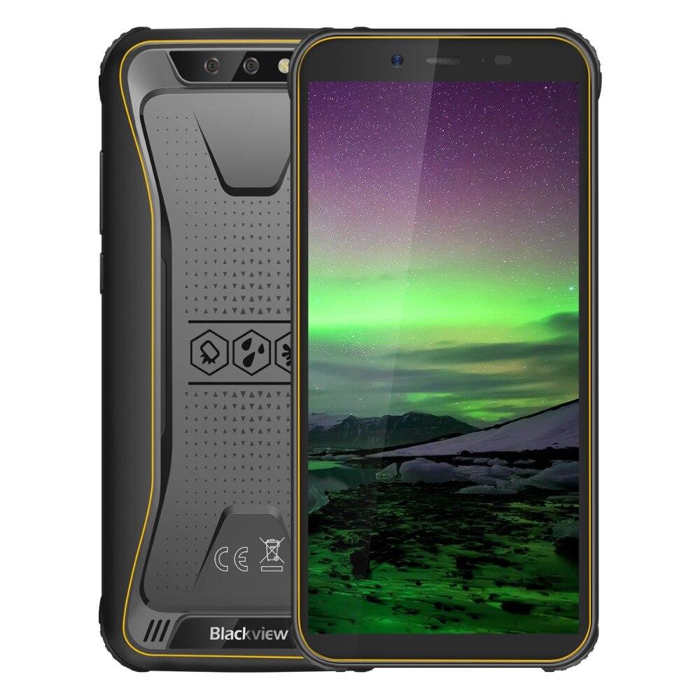 """Blackview BV5500 IP68 Waterproof Mobile Phone Dual SIM Rugged Smartphone MTK6580P 2GB+16GB 5.5"""" 18:9 Screen 4400mAh Android 8.1"""
