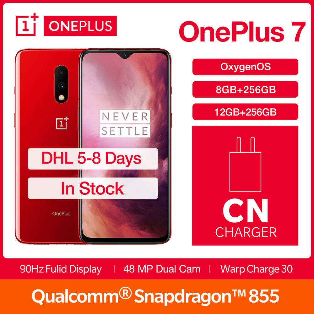 "In Stock Global Rom Oneplus 7 Smartphone Snapdragon 855 6.41"" 48MP Mobile Phone Screen Unlock"