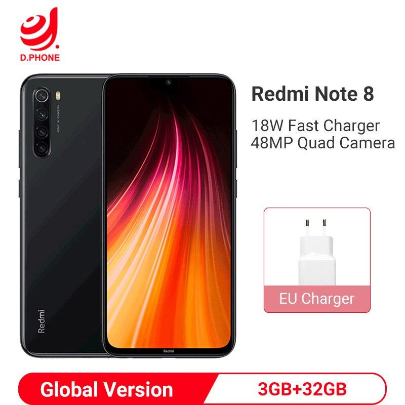 "Global Version Xiaomi Redmi Note 8 3GB 32GB Smartphone Snapdragon 665 Octa Core 48MP Quad Rear Camera 6.3"" 4000mAh Cellphone"