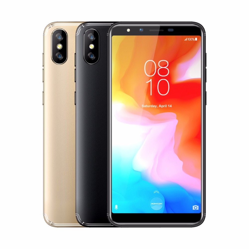 HOMTOM H5 Android 8.1 3GB+32GB 5.7 inch incell Screen Mobile Phone Face ID Fingerprint ID MTK6739 Quad Core OTA OTG Smartphone