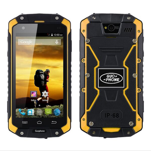 "Original guophone V9 IP68 Waterproof smartphone MTK6580 Quad Core Android 5.1 4.5""IPS RAM 1GB ROM 8GB 3G WCDMA 8MP mobile Phone"