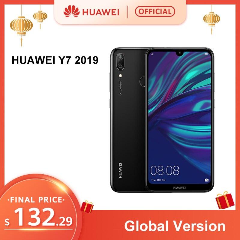 HUAWEI Y7 2019 Global Version Smartphone Android 3GB 32GB 4000mAh 6.26 Inch Face ID Unlock Dual AI Camera Snapdragon 450