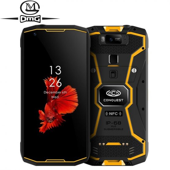 "Conquest S12 pro 6GB+128GB 8000mAh NFC IP68 Waterproof shockproof Mobile Phone 5.99"" Android 8.1 Octa Core 4G Rugged Smartphone"