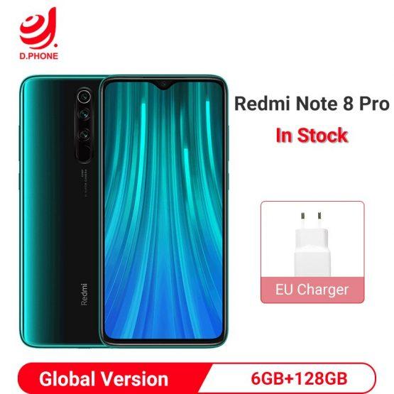 Global Version Xiaomi Redmi Note 8 Pro 6GB 128GB Smartphone 64MP Quad Camera Helio G90T Octa Core 4500mAh NFC Cell Phone