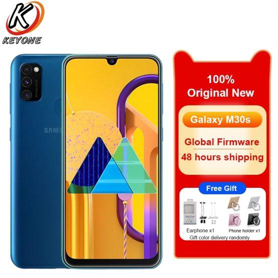 "Brand New Samsung Galaxy M30s 6GB RAM 128GB ROM Mobile Phone 6.4"" Octa Core Triple Rear Camera 48MP +8MP+5MP Dual SIM SmartPhone"