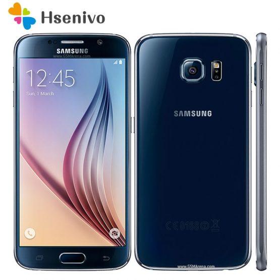 100% Unlocked Samsung Galaxy S6 G920 4G LET Mobile Phones Octa Core 5.1inch 16MP 3GB RAM 32GB ROM Original Samsung S6 Smartphone