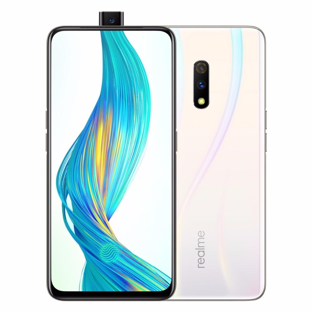 "Original Realme X Mobile phone 4G 64G 6.53""AMOLED Screen Android 9 Octa Core 16MP+48MP+5MP camera fingerprint 3765mAh Smartphone"
