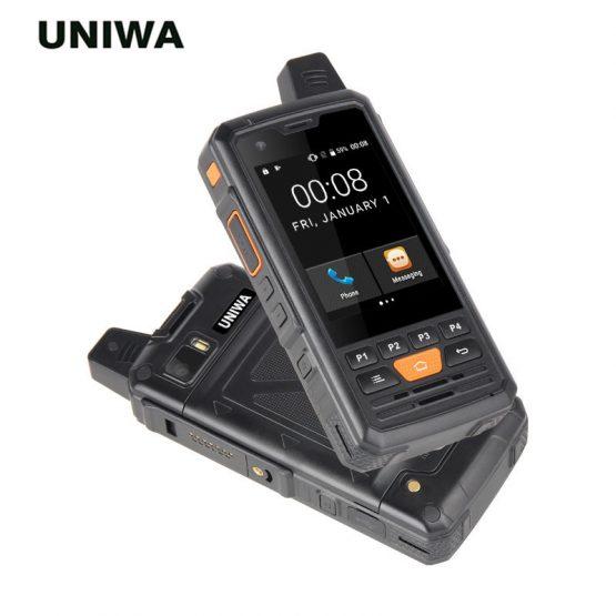 Original New UNIWA F50 PTT Walkie Talkie 2.8'' Touch Screen 4000mAh 1GB 8GB Android 6.0 Smartphone Quad Core 4G LTE Cellphone