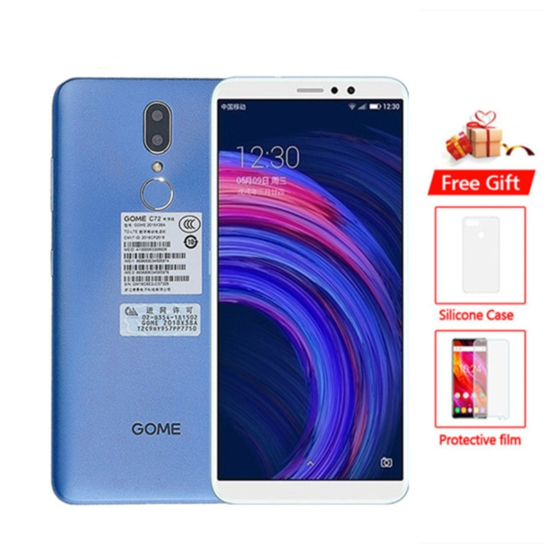 """Gome C72 Smartphone 4GB RAM 64GB ROM MTK6763T Octa Core 13MP 5.99"""" Mobile Phone Android 8.1 OTG 4G LTE Cellphone"""