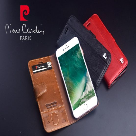 Pierre Cardin Brand New For iPhone SE 2020 Case Genuine Leather Fashion Luxury Flip Card Holder Case Cover For iPhone 7 8