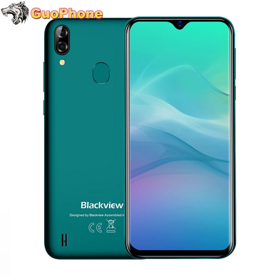 """Blackview A60 Pro Smartphone Mobile Phone 6.088"""" Waterdrop Screen 4G LTE 4080mAh Android 9.0 3GB RAM Dual Rear Camera Cell Phone"""