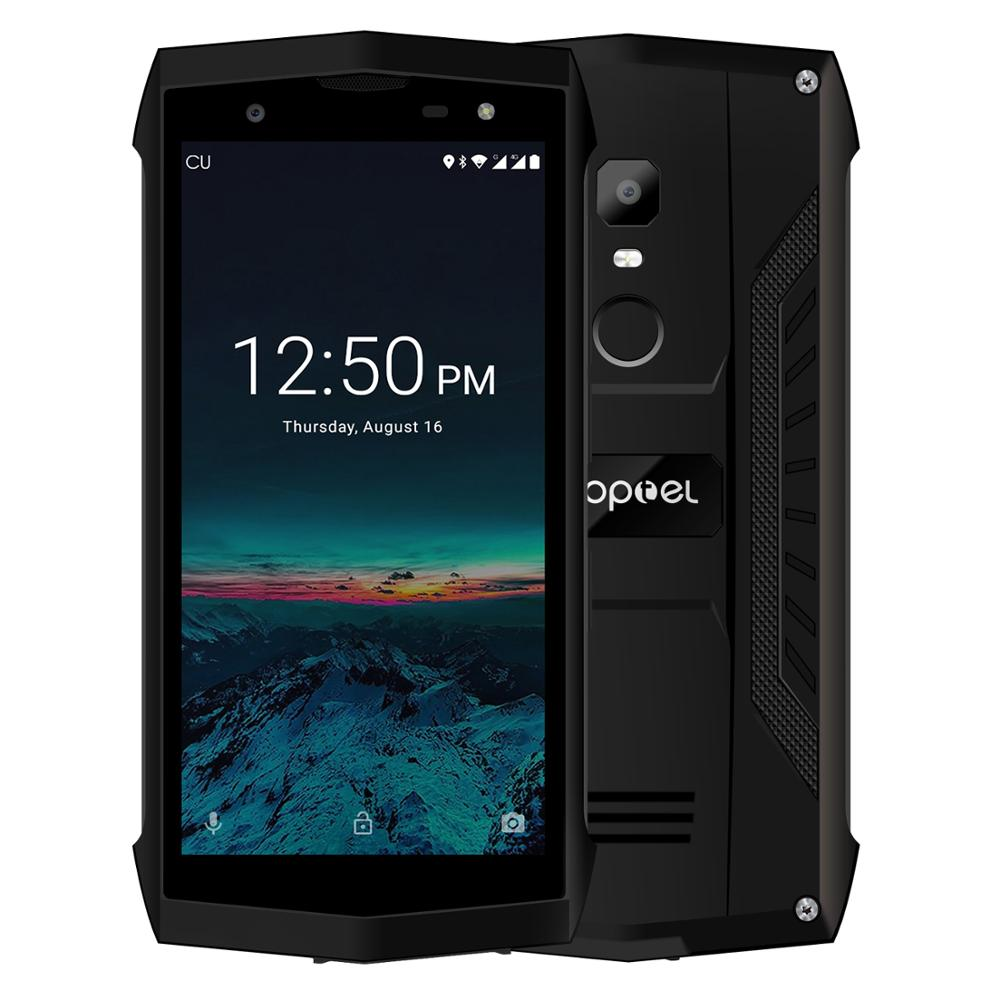 """Poptel P8 5.0"""" IP68 Waterproof Smartphone Android 8.1Quad Core cellphone 2GB+16GB FaceID NFC 4G LTE mobile Phone F2C can do ODM"""
