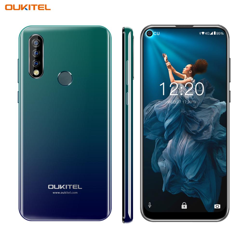 """OUKITEL C17 Pro 6.35"""" Blind Hole Display Cellphone Android 9.0 MTK6763 Octa Core 4G+64GB Dual 4G LTE Triple Cameras Smartphone"""