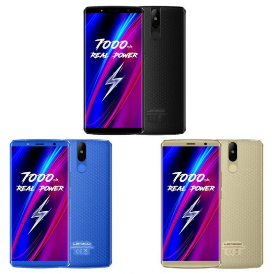 "LEAGOO POWER 5 Smartphone 5.99"" FHD+ 6GB RAM 64GB ROM Android 8.1 MT6763V Octa Core 7000mAh 13MP Wireless Charging Mobile Phone"