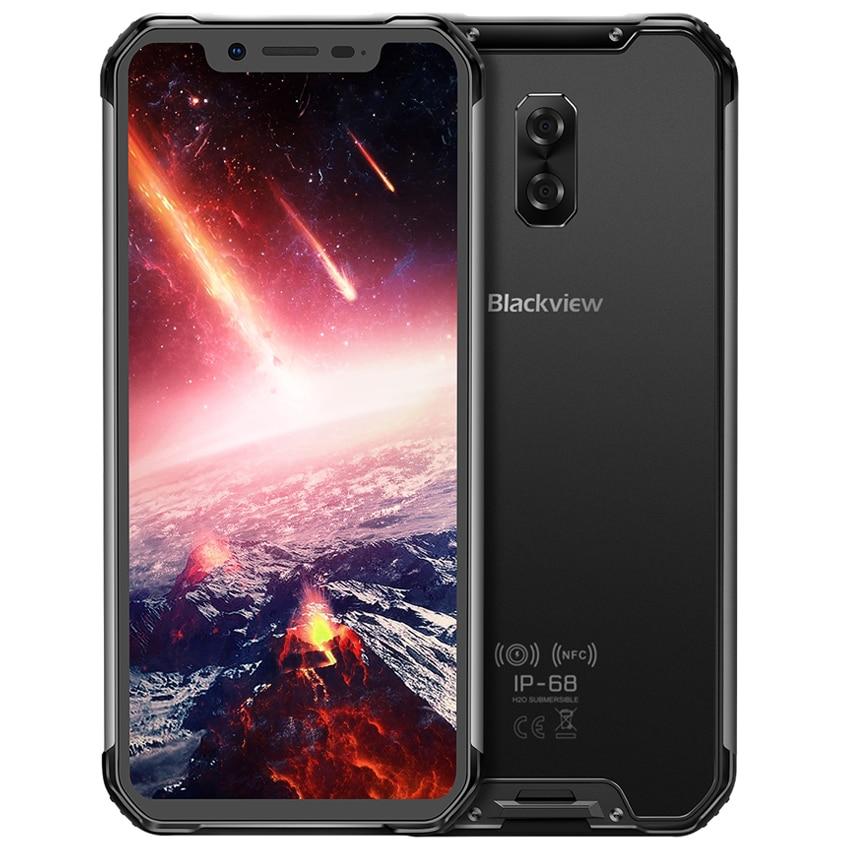 "Blackview BV9600 Waterproof shockproof Mobile Phone Helio P70 Android 9.0 4GB 64GB 6.21"" AMOLED 5580mAh 4G Rugged Smartphone"