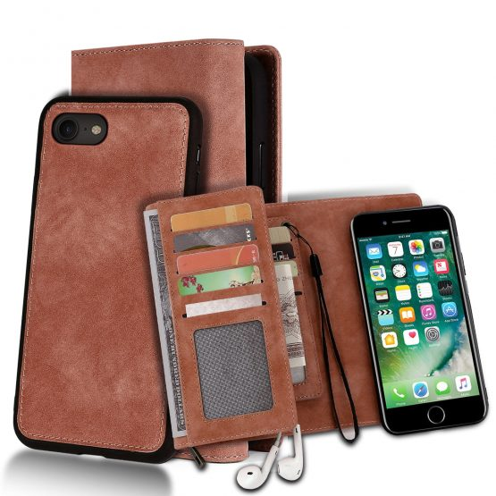 For iPhone SE 2020 Case Premuim Vintage PU Leather Magnetic Buckle Flip Stand Wallet Cover For iPhone SE 2 4.7'' Case Card Slot