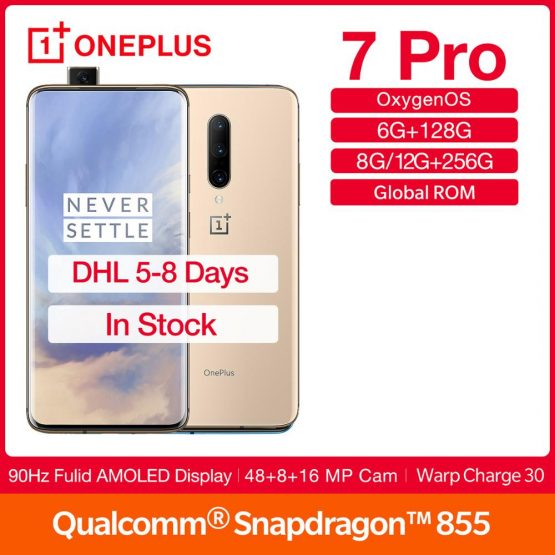 "Global Rom OnePlus 7Pro 90Hz Screen Smartphone 6.67"" Display Snapdragon 855 Octa Core NFC UFS 3.0 4000mAh Battery 48MP Camera"