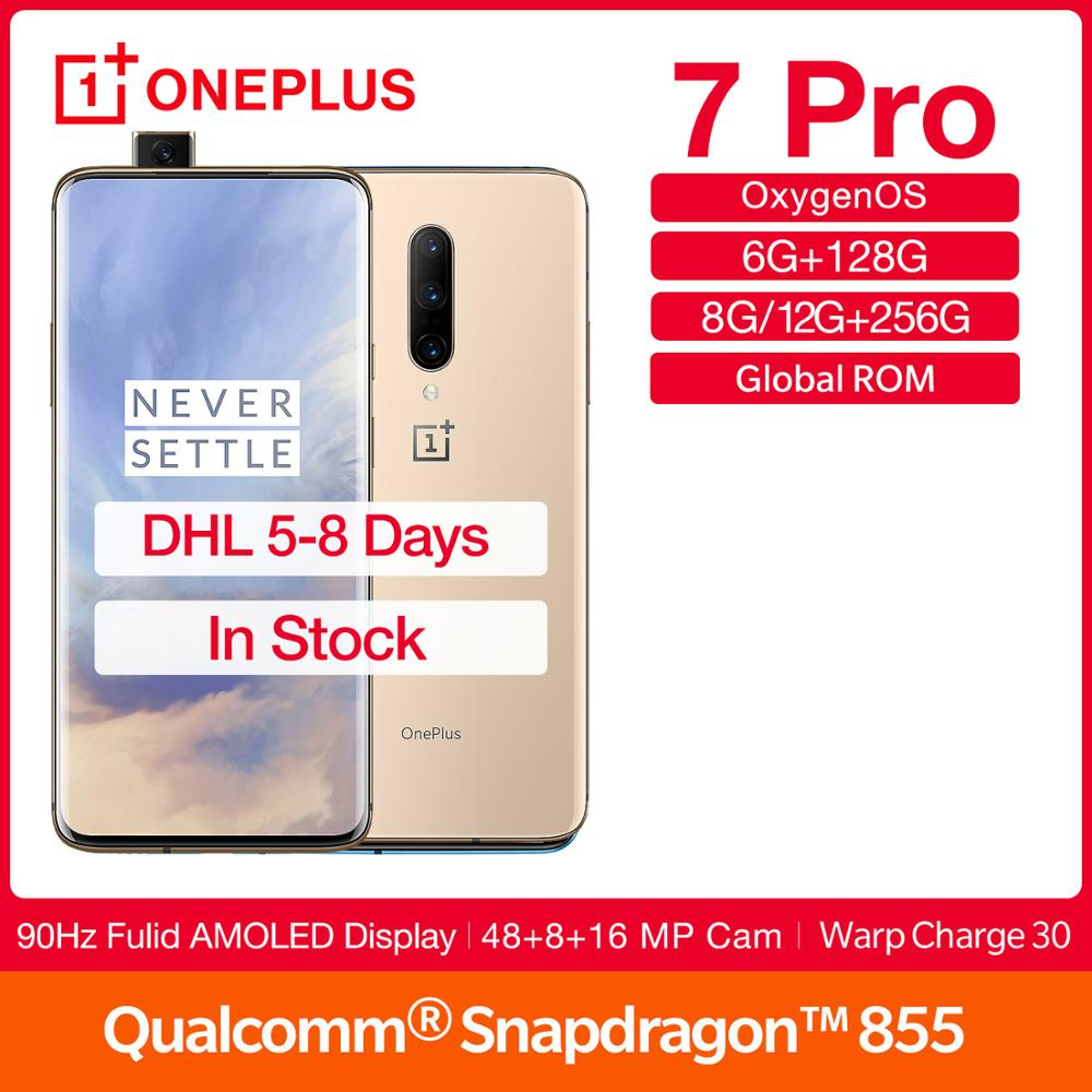 "Global Rom OnePlus 7Pro 90Hz Screen Smartphone 6.67"" Display Snapdragon 855 Octa Core NFC UFS 3.0 4000mAh Battery 48MP Camera"