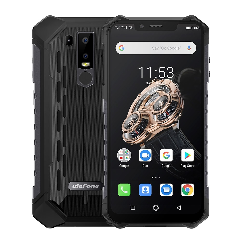 Ulefone Armor 6S Waterproof IP68 NFC Rugged Mobile Phone Helio P70 Otca-core Android 9.0 6GB 128GB Wireless Charge Smartphone