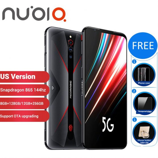 "US Version Nubia Red Magic 5G Gaming SmartPhone 12GB 256GB /8GB 128GB 6.65"" Snapdragon 865 NFC Redmagic 5G Game Mobible Phone"