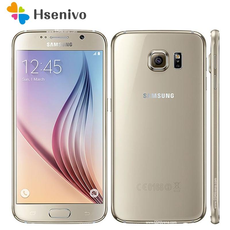 "Original Unlocked Samsung Galaxy S6 Android MobilePhone G920F G920V G920A G920P 3GB 32GB 5.1"" 16.0MP 4G LTE Octa Core Smartphone"