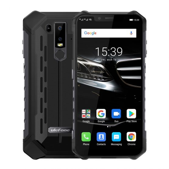 "Ulefone Armor 6E Mobile Phone IP69K Waterproof Android 8.1 6.2"" FHD+ Helio P7O Octa Core 4GB+64GB Wireless Charge Smartphone NFC"