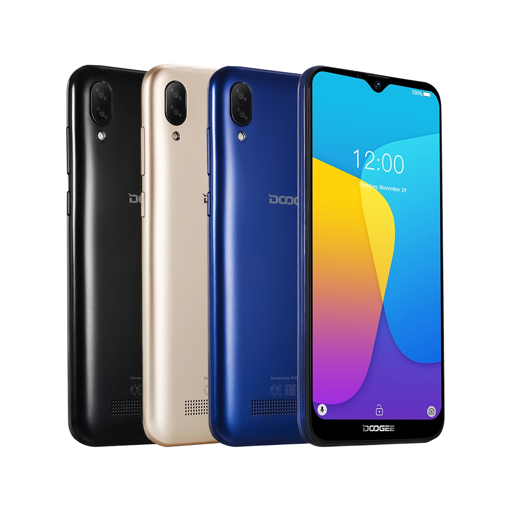 "DOOGEE X90 6.1"" 19:9 Waterdrop LTPS Screen Smartphone Quad Core 16GB ROM 3400mAh Dual SIM 8MP+5MP WCDMA Android Go mobile phone"
