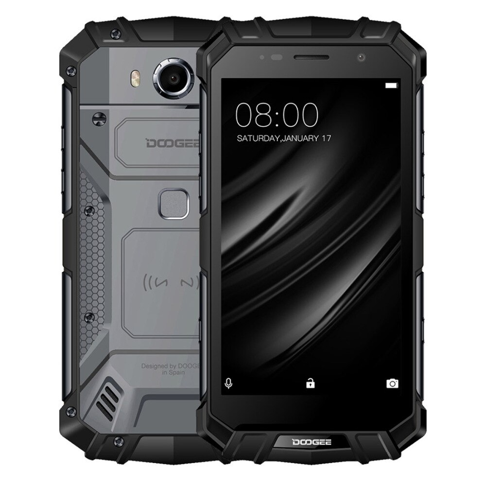 """New DOOGEE S60 Lite IP68 Waterproof Cell Phone 5.2"""" 4GB RAM 32GB ROM MTK6750T Octa Core Android 7.0 Wireless Charge Smartphones"""