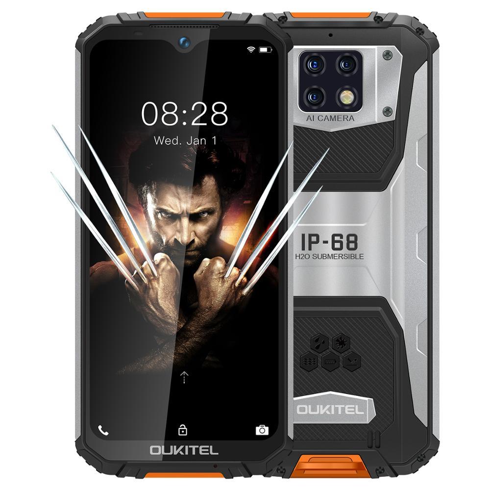 "OUKITEL WP6 6.3"" Mobile Phone IP68 Rugged Waterproof Smartphone MT6771T 6GB 128GB Octa Core 48MP Tri-Cameras Cellphone 10000mAh"