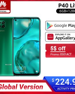 Google Play Global Version Huawei P40 lite 6GB 128GB Smartphone 48MP AI Cameras 6.4'' FHD Screen Kirin 810 Octa Core 40W QC