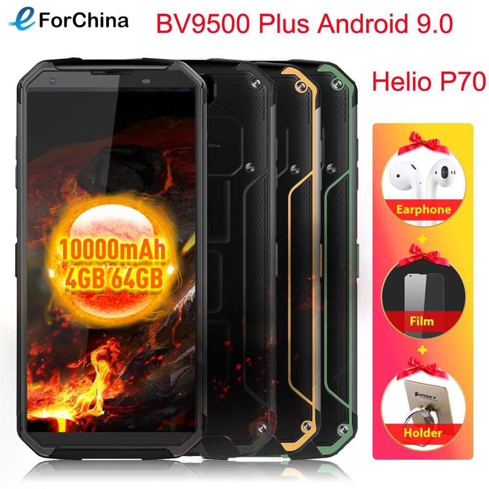 "Blackview BV9500 Plus 5.7"" HD Screen Wireless Charging Phone Helio P70 Octa Core Android 9.0 4GB RAM 64GB ROM Smartphone OTG NFC"