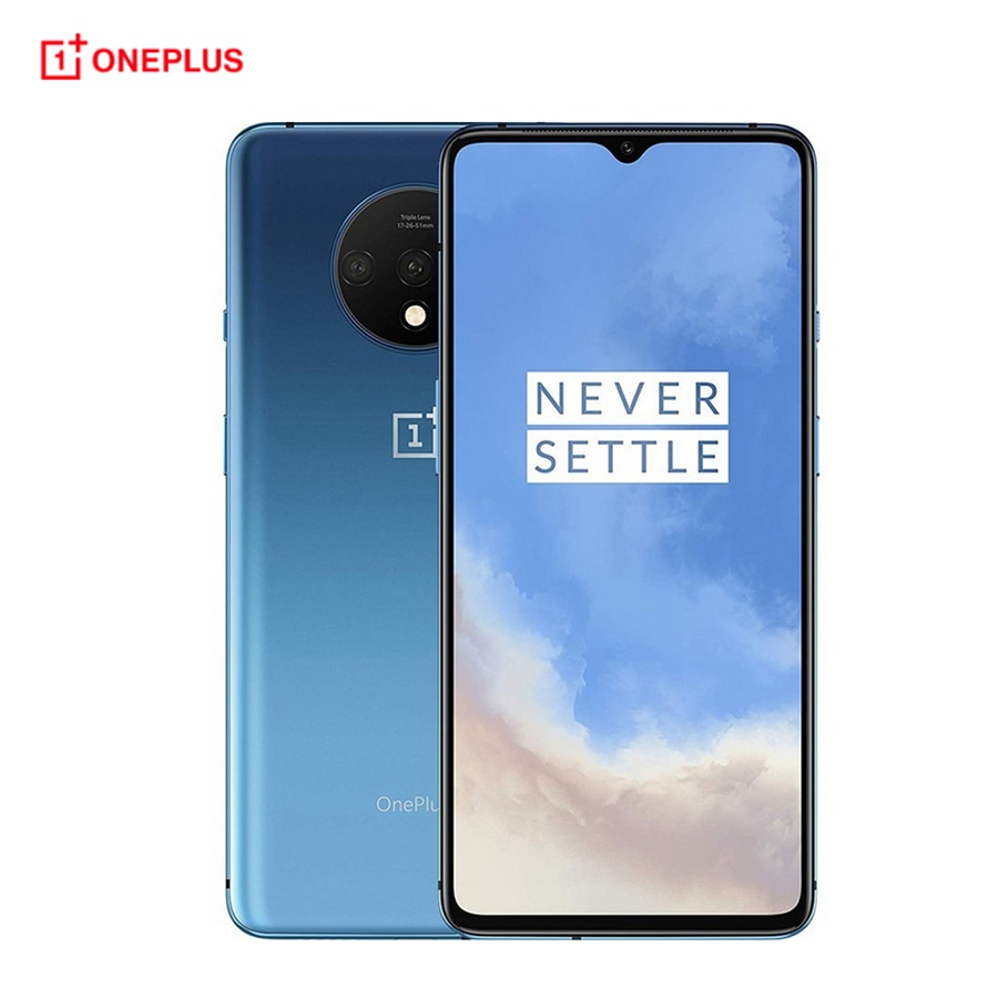 """Global firmware Oneplus 7T 8GB 256GB / 128GB Mobile Phone Snapdragon 855+ 6.55"""" 20:9 Triple Camera NFC 4G Android 10 Smartphone"""