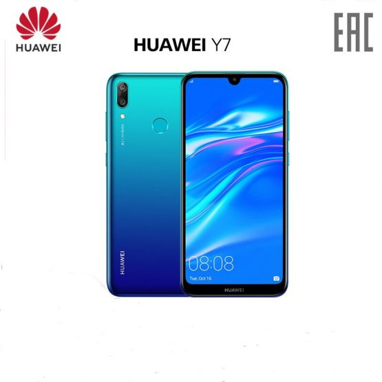 HUAWEI y7 2019 Global Version smartphone 3GB 32GB 4000mAh 6.26 inch Face ID unlock Dual AI camera Qualcomm Snapdragon 450