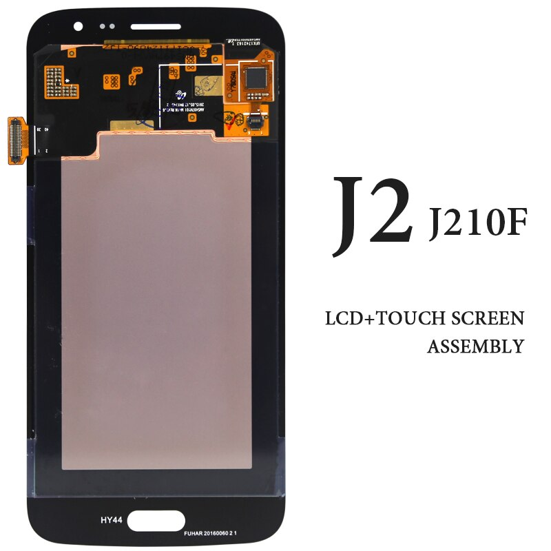 original AMOLED Black White Gold Display For Samsung J2 2016 J210 J210F LCD Touch Screen Smartphone Replacement