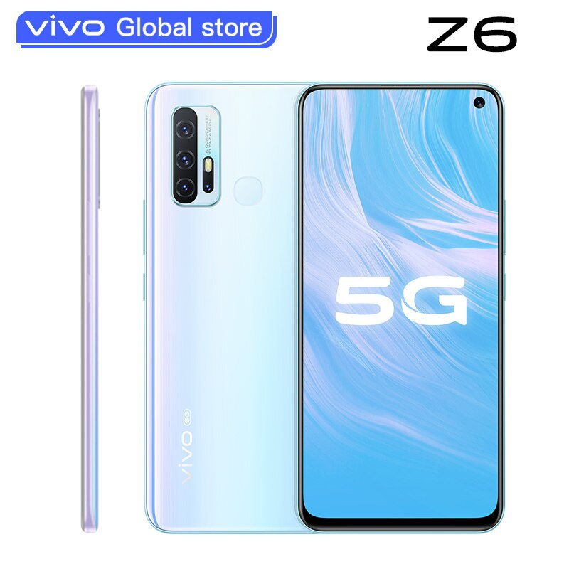 Original new vivo Z6 5G Smartphone Snapdragon 765G 6GB 128GB 5000mAh Battery 44W Dash Charging 48.0MP 4 Rear Cameras Telephone