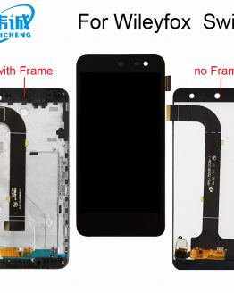 WEICHENG Wileyfox Swift Touch screen+ Lcd screen display assembly for Wileyfox swift lcd with frame Smartphone replacement+Tools